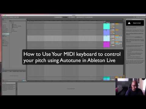 How to use MIDI to Control Pitch in Autotune and Ableton Live