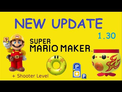 Super Mario Maker UPDATE 12/22 (1.30) | FIRE KOOPA CLOWN CAR - BUMPER ...