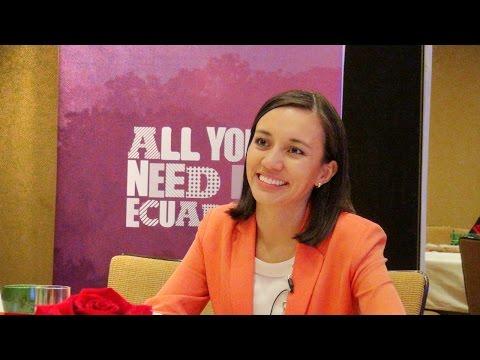 Ecuador travel - interview with Minister of Tourism Sandra Naranjo