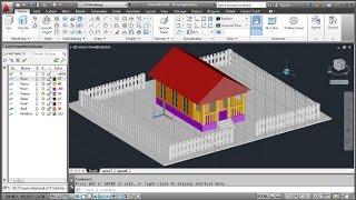 AutoCAD 3D Modeling Cottage Tutorial (Freestyle)