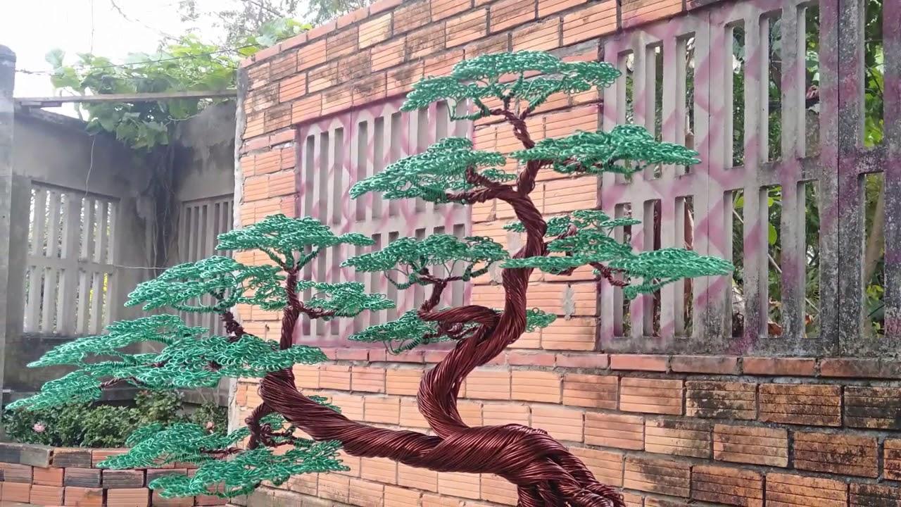 Cây theo mẫu demo bonsai handmade sadec