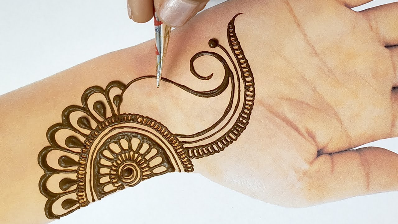 Easy Beautiful Mehndi New Stylish Full Hand Mehndi Design Step By Step आस न म ह द लग न स ख