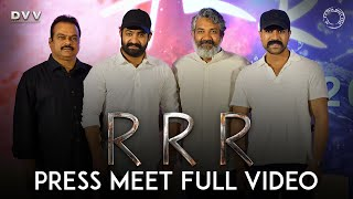 RRR Press Meet Full Video - NTR, Ram Charan | SS Rajamouli | DVV Danayya