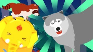 Bru, save Raccoon ~Find a raccoon trapped in a forest where the cries of the wolf are heard!