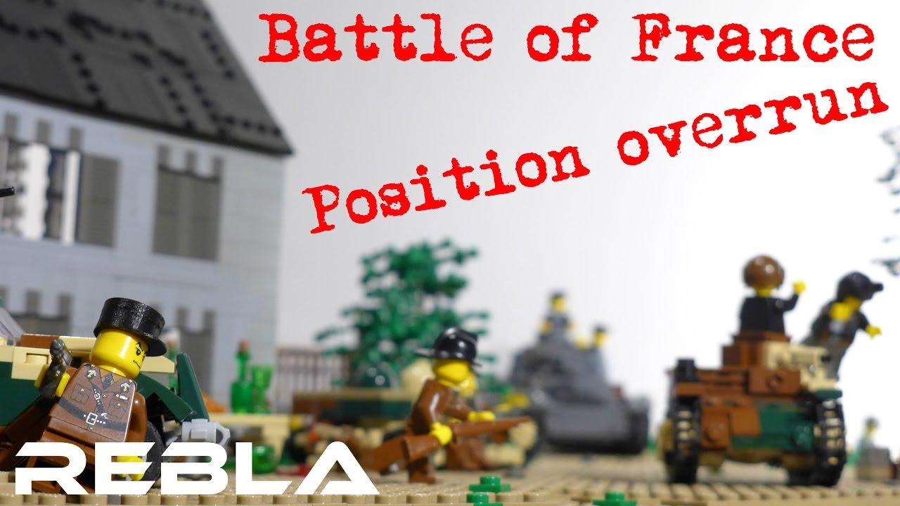 Lego ww2 battle of france position overrun youtube for Siege lego france