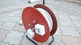 Как сделать электрический удлинитель на катушке своими руками. DIY Extension Cord Reel(Для изготовления удлинителя на катушке нам понадобится: электрическая вилка, провод, розетка, ну и, разумее..., 2016-01-05T18:19:06.000Z)
