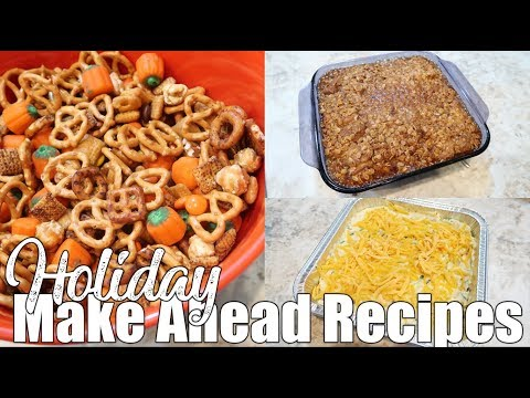 Make Ahead Holiday Recipe Ideas | Freezer Meals Prep | Cook With Me