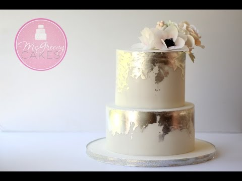 wedding cake gold foil how to create an antique silver leaf effect on cake 22777