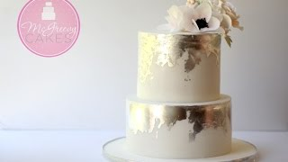 How To Create An Antique Silver Leaf Effect On Cake