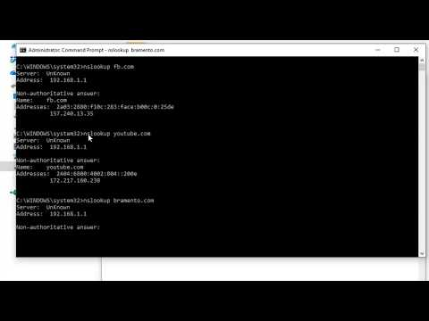 How To Find Domain Name System(DNS) Address Using Windows Command Line