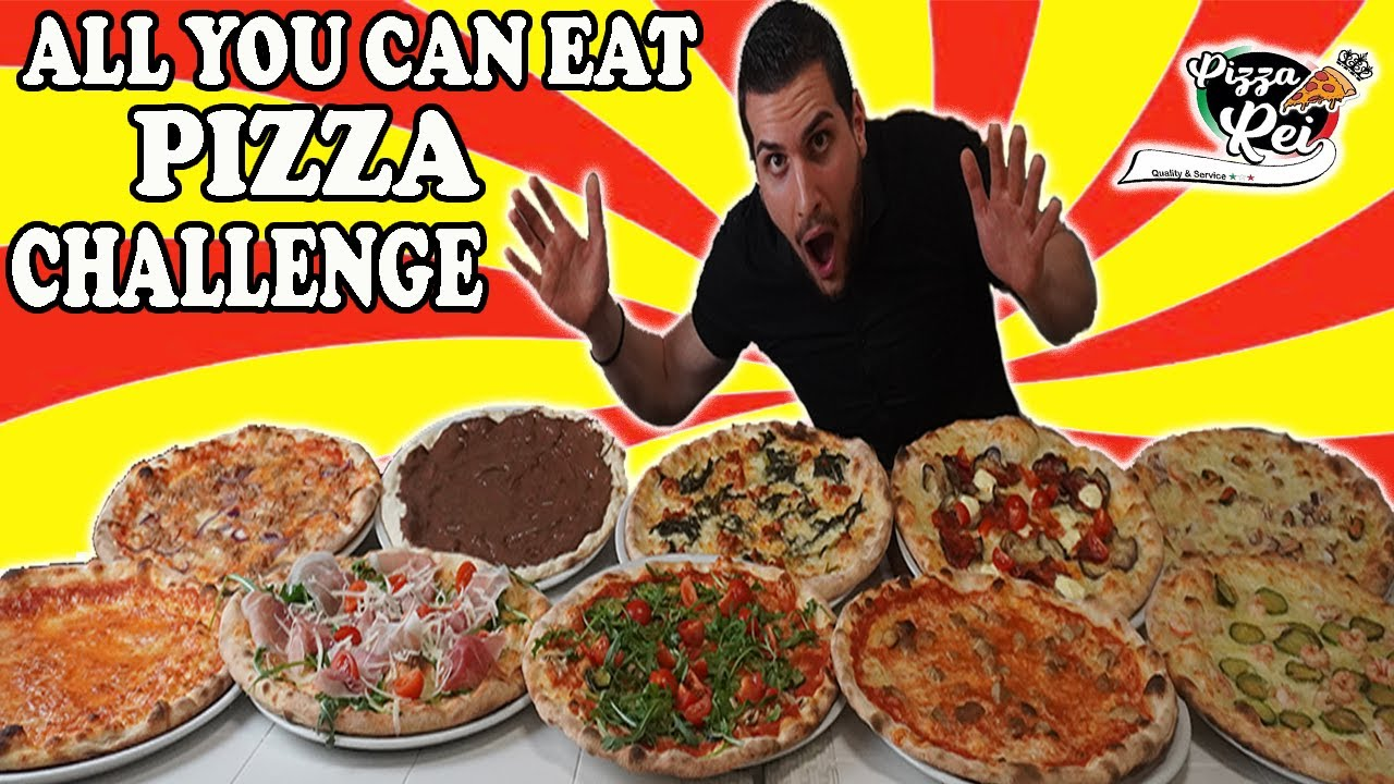 all you can eat challenge pizza 5 kg  cheat day  man vs