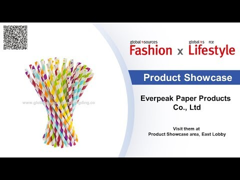 FDA Certificates eco-friendly and biodegradable striped paper straws [Product Showcase]