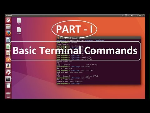 Basic Terminal Commands in Linux Ubuntu ( Ubuntu tutorial for Beignners )