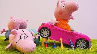 Papa repariert Mamas Auto. Spielspaß mit Peppa Wutz