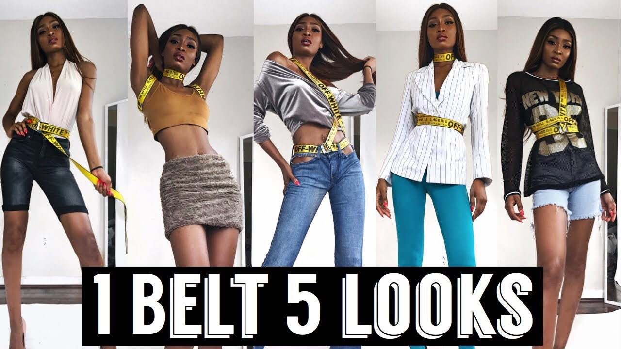 [VIDEO] - HOW TO STYLE OFF-WHITE BELT IN 5 WAYS | SUMMER 2018 LOOKBOOK |  Miss.Cameroon 4