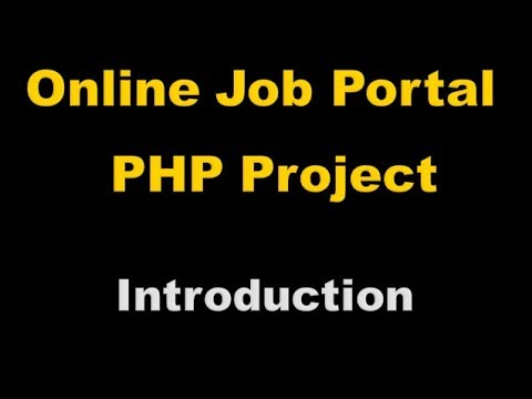 Online Job Portal Project In PHP - Php Project Tutorial (Hindi) - 1