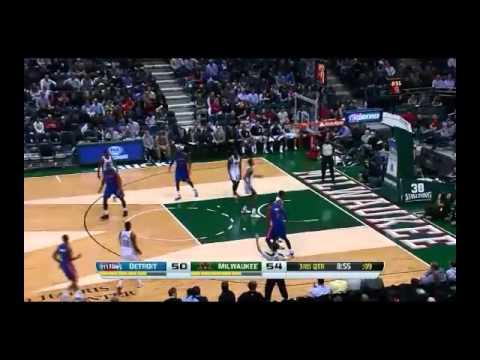 NBA CIRCLE - Detroit Pistons Vs Milwaukee Bucks Highlights 4 Dec. 2013 www.nbacircle.com