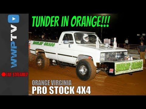 PRO STOCK 4X4 TRUCKS pulling at THUNDER IN ORANGE at Orange Virginia 2017 DRAGON MOTORSPORT by WWPTV