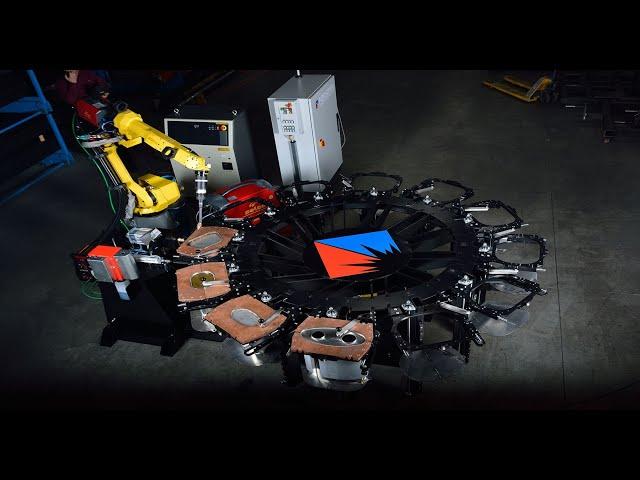 Roboter-Auspuffschweissen