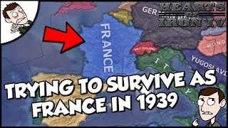 Trying to Survive as France Starting in 1939 on Hearts of Iron 4 hoi4
