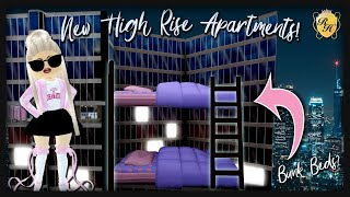 NEW HIGH RISE APARTMENTS ROYALE HIGH! Update Reaction and BUNK BEDS Life Hack?!