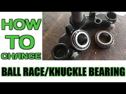 How to change ball race / knuckle bearing