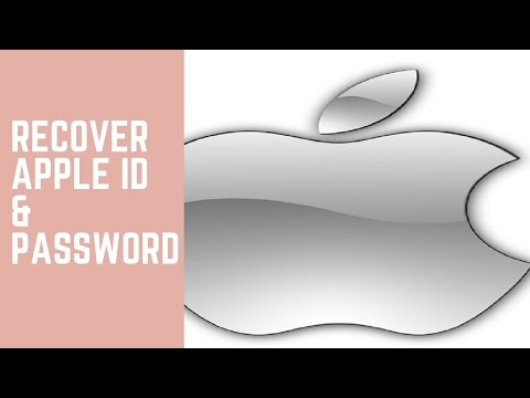 How to recover both your apple id and password if forgotten
