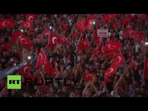 Turkey: Thousands greet PM Yildirim in Ankara after failed coup attempt