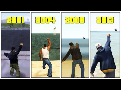 GRENADES Vs WATER In GTA Games! (Evolution 1999 - 2020) - SA Gone Bad?