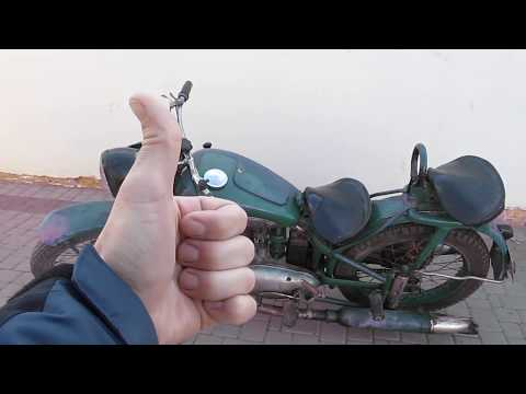 Советский мотоцикл ИЖ-49 в хорошем сохране