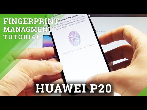 How To Add Fingerprint In HUAWEI P20 - Fingerprint Management |HardReset.Info
