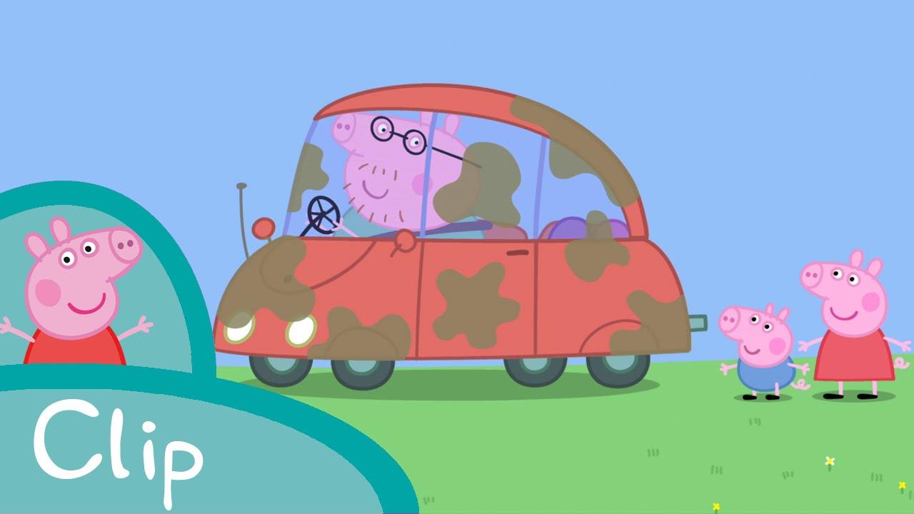 Peppa pig fran ais peppa et george lavent la voiture - Pepapig francais ...