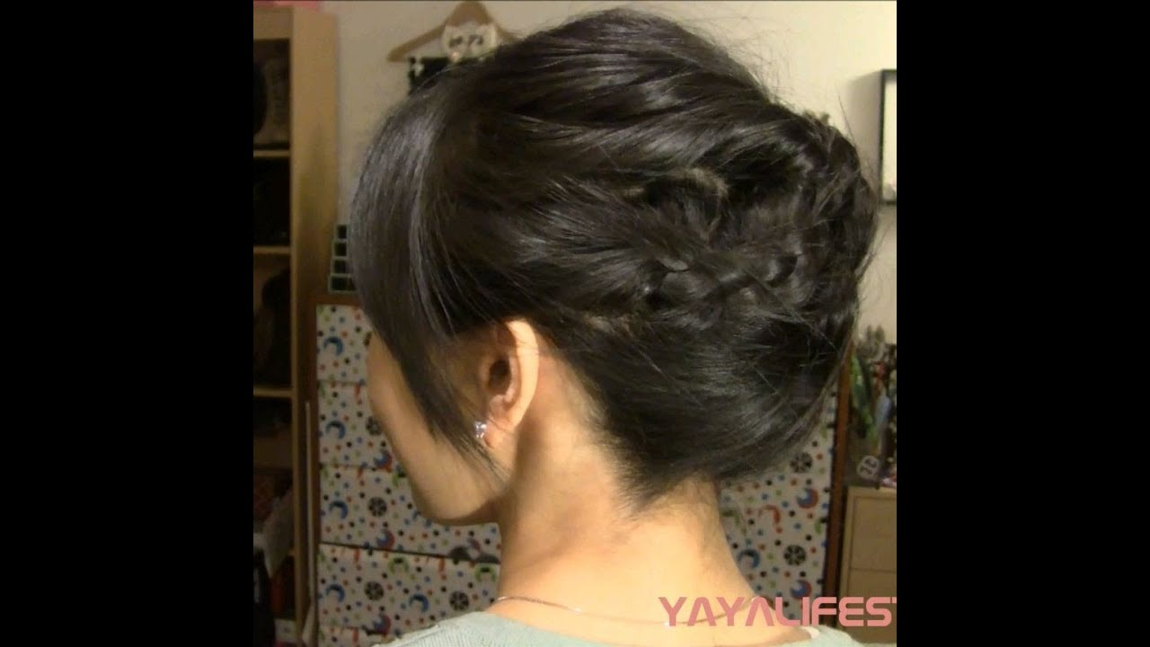 3 Minute Braided Updo For Short Medium Length Hair