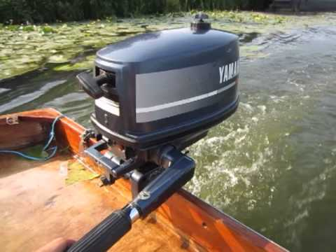 Yamaha 4hp outboard motor fitted to mirror dingy youtube for Used 175 hp outboard motors for sale