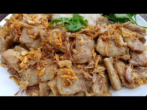 หมูกระเทียมพริกไทย อาหารจานเดียว อร่อยจัด สูตรนุ่มเร่งด่วน นุ่มได้อร่อยได้แม้ไม่ได้หมัก