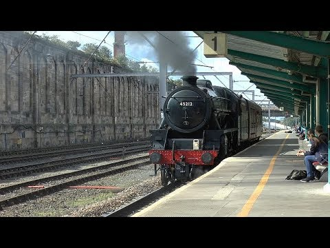 45212 in High Wapping sidings move to Grosmont NYMR   31 08 17