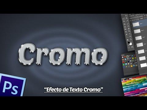 Efecto de Texto Cromo en Photoshop.