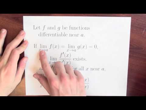 How can derivatives help us to compute limits? - Week 7 - Lecture 1 - Mooculus