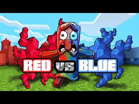 Minecraft | RED VS BLUE BACTERIA WARS CHALLENGE! (Minecraft vs Plague)