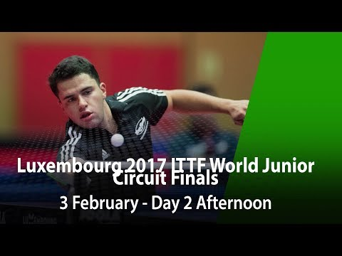 LUXEMBOURG 2017 ITTF World Junior Circuit Finals - Day 2 Afternoon
