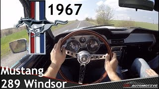 Ford Mustang 1967 289 V8 POV Test Drive + Acceleration 0 - 80 mph