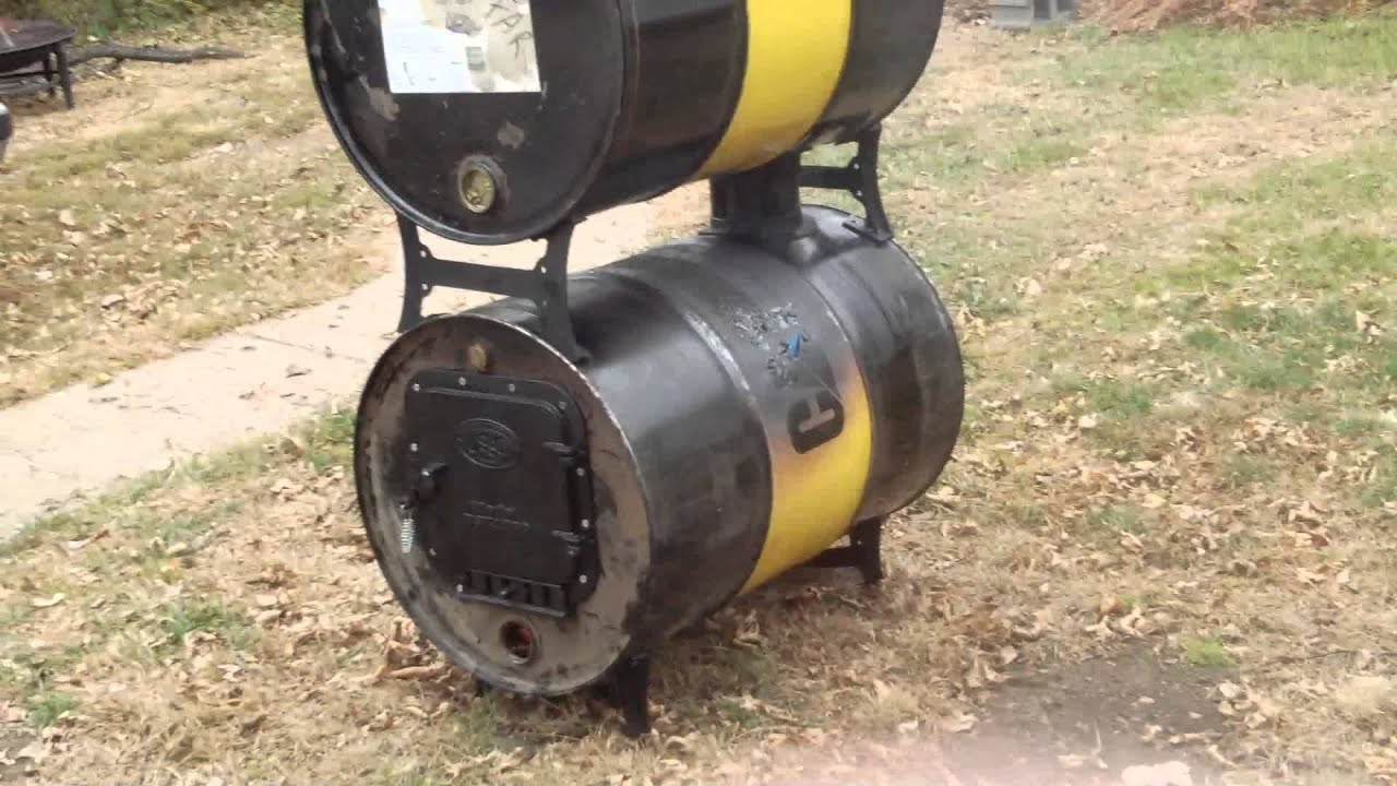 I built a double barrel wood stove for my workshop. $85 dollars for the United States Stove kit at Tractor Supply. The barrels were free. I