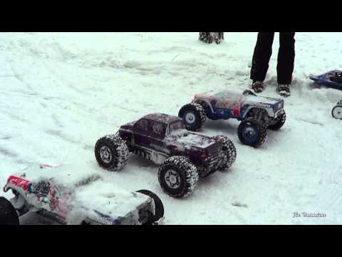 Hpi Savage XL Vs Asso Rival-Winter Racing-Part 1