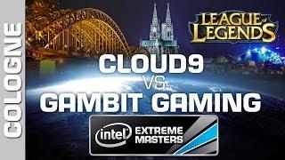Cloud 9 vs. Gambit Gaming - Game 2 - Semifinal PT - IEM Cologne - League of Legends
