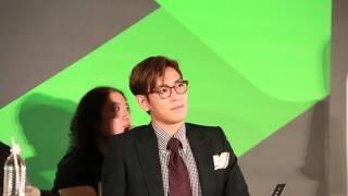 BIGBAN 的T.O.P 與日本女演員上野樹里今日來台進行LINE TV 戲劇《Secret...
