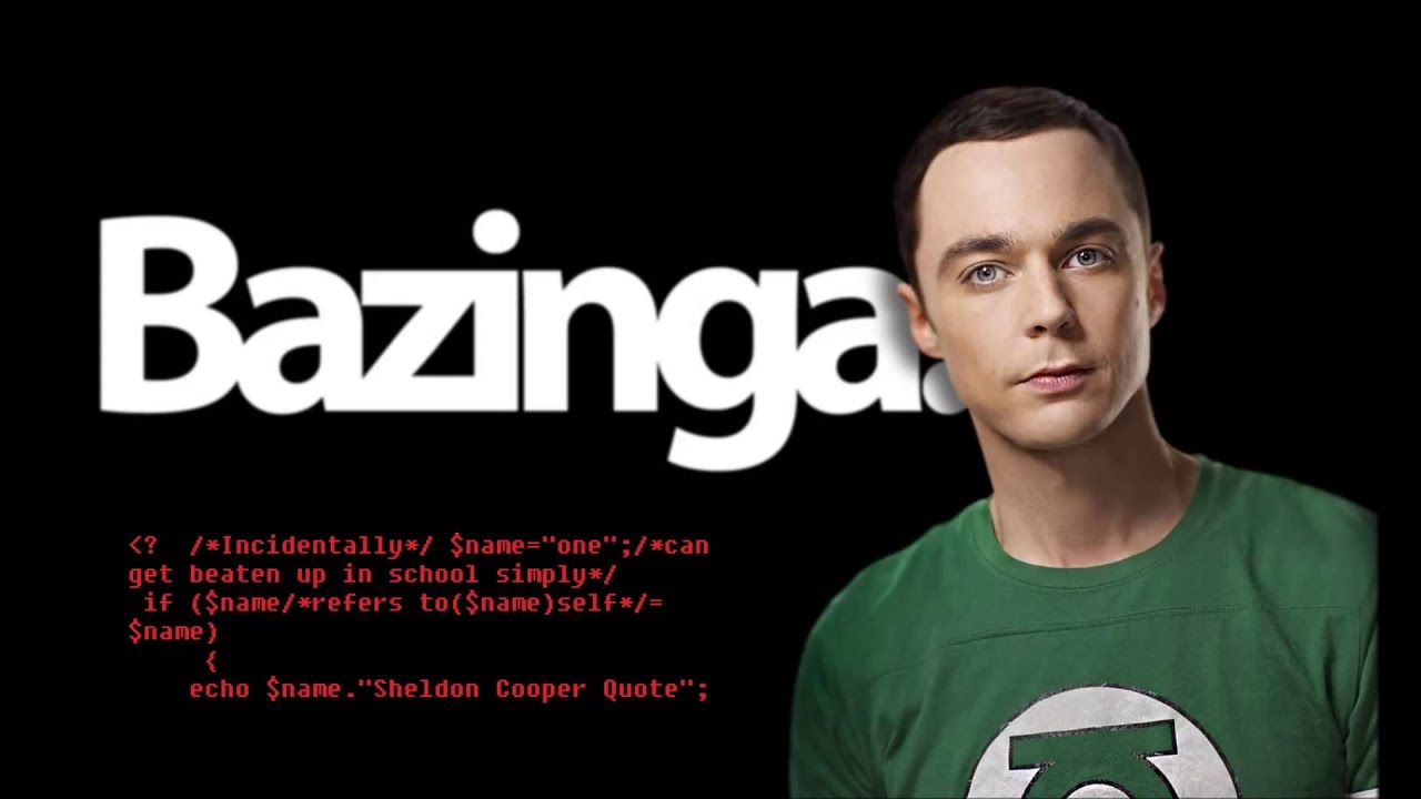 PHPJoke: Sheldon Cooper Funny Quote in PHP - YouTube