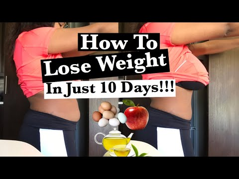 HOW TO LOSE WEIGHT FAST | Eggs and Apple 10 days challenge lose 20lbs| South African Youtuber |