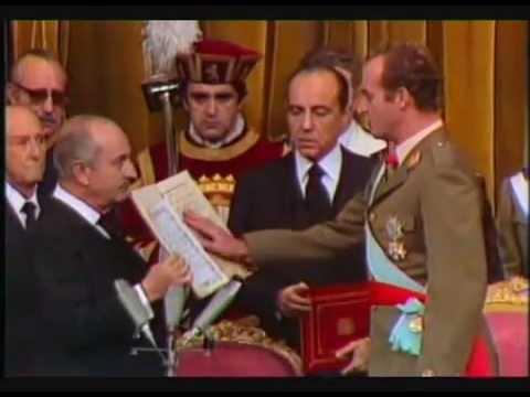 Juan Carlos I, proclamación en las Cortes (22-10-1975)