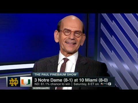 Notre Dame vs Miami 2017 Preview - The Paul Finebaum Show