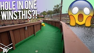 A HOLE IN ONE AT THIS MINI GOLF COURSE WINS YOU THIS!!! | Brooks Holt